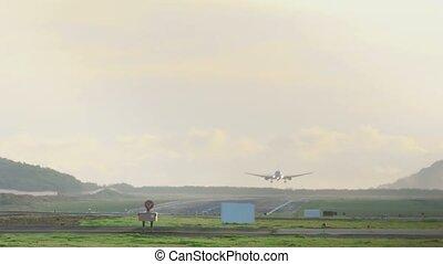 Boeing 767 landing at Phuket