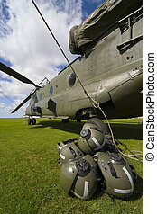 Boeing CH-47 Chinook - A Boeing CH-47 Chinook with the rotor...