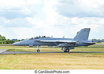 Boeing F/A-18E/F Super Hornet at roskilde airport, denmark