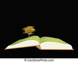 boek, boompje