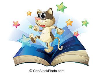 boek, dancing, kat