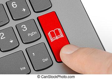 boek, de computer van het toetsenbord, klee