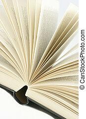 boek, draaien, pagina's