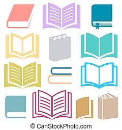 boek, iconen