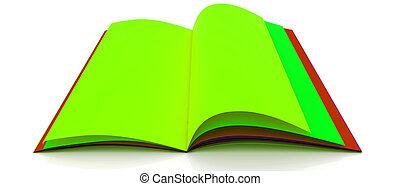 boek, kleurrijke