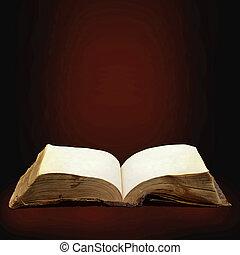 boek, magisch, geopend