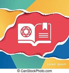 boek, magisch, pictogram