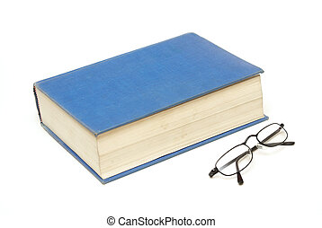 boek, met, bril