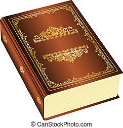boek, met, ruimte, voor, jouw, tekst