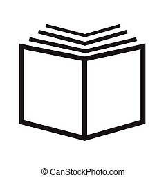 boek, ontwerp, illustratie, pictogram