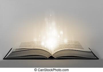 boek, open, magisch