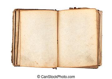 boek, oud, pagina's, leeg