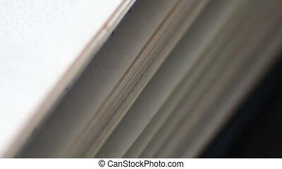 boek, pagina's, draaien