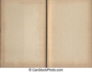 boek, pagina's, leeg