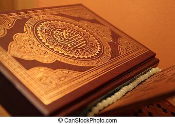 boek, van, heilig, quran