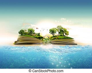 boek, van, natuur