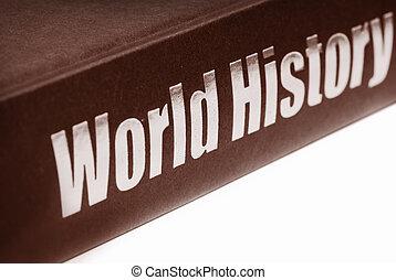 boek, van, wereld, geschiedenis