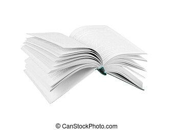 boek, vliegen, vrijstaand, witte