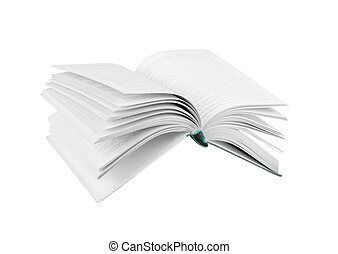 boek, witte , vliegen, vrijstaand
