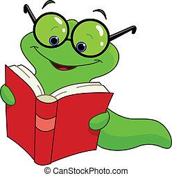 boek, worm