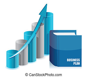 boek, zakelijk, en, grafiek, tabel