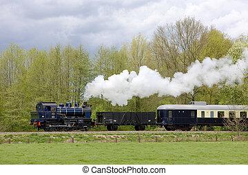 boekelo, nederland, trein, -, haaksbergen, stoom