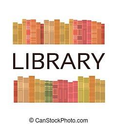 boekenplank, boekjes , stapel, bibliotheek, lezende