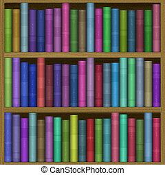 boekenplank, genereren, hires, textuur