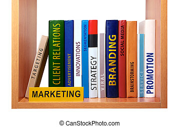 boekenplank, marketing, skills., kennis