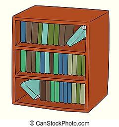 boekenplank, vector