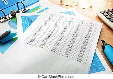 boekhouding, concept., zakelijk