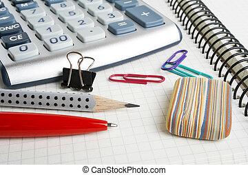 boekhouding, concept, -, zakelijk