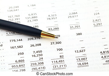 boekhouding, financieel, data