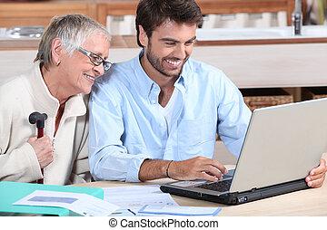 boekhouding, gelukkig huis