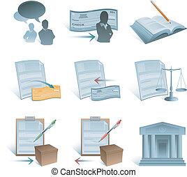 boekhouding, iconen