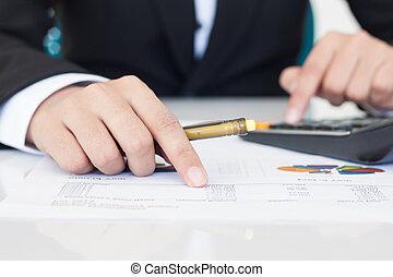 boekhouding, of, financiën, concept