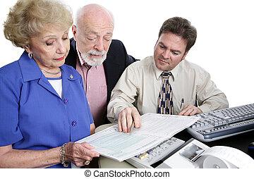 boekhouding, reeks, -, het herzien, belasting, informatieboekje