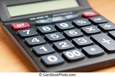 boekhouding, rekenmachine, concept, zakelijk
