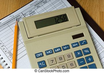 boekhouding, zakelijk, items