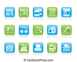 boekjes , bibliotheek, iconen