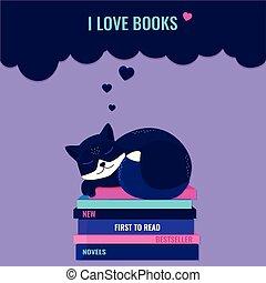 boekjes , concept., boekjes , liefde, lezende