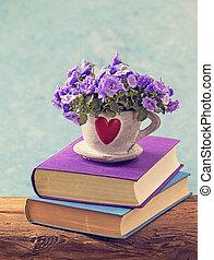 boekjes , en, bloemen
