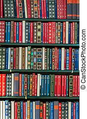 boekjes , in, een, bibliotheek