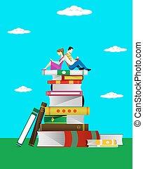 boekjes , lezen, concept.