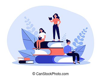 boekjes , lezende , mensen