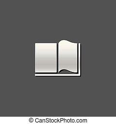 boekjes , -, metalen, pictogram