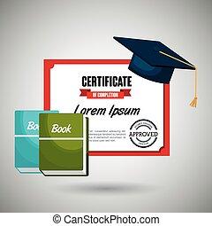 boekjes , ontwerp, vrijstaand, certificaat, pictogram