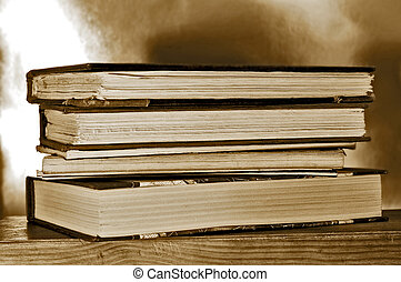 boekjes , op, een, plank