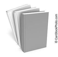 boekjes , op, white., duidelijk, dekking