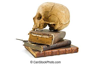 boekjes , oud, schedel